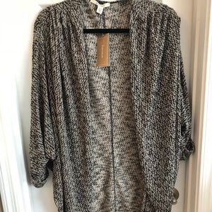 NEW   Francesca's Long Rolled Sleeve Cardigan